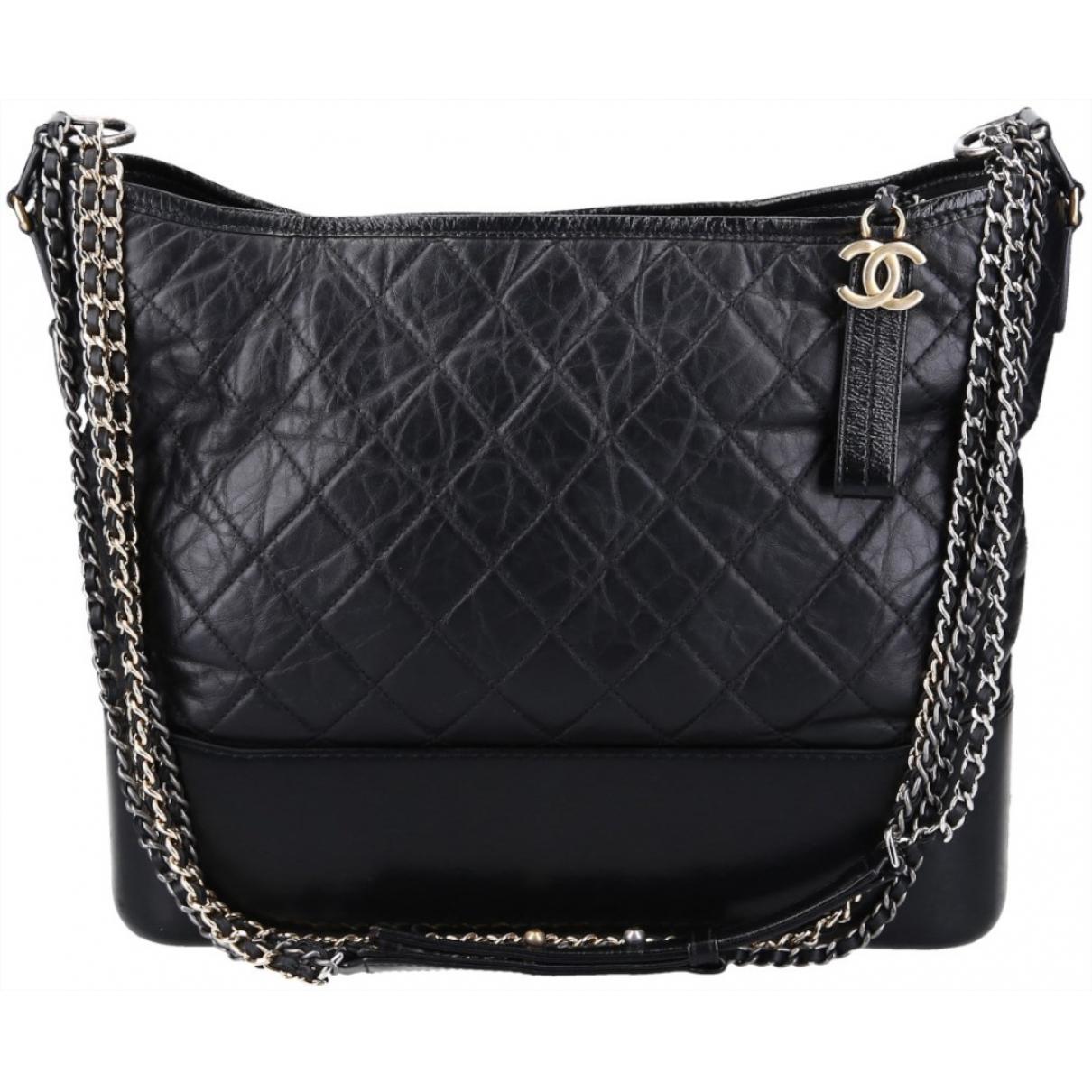Chanel Gabrielle Black Leather handbag for Women \N