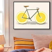 Diamand Malerei mit Fahrrad Muster ohne Rahmen