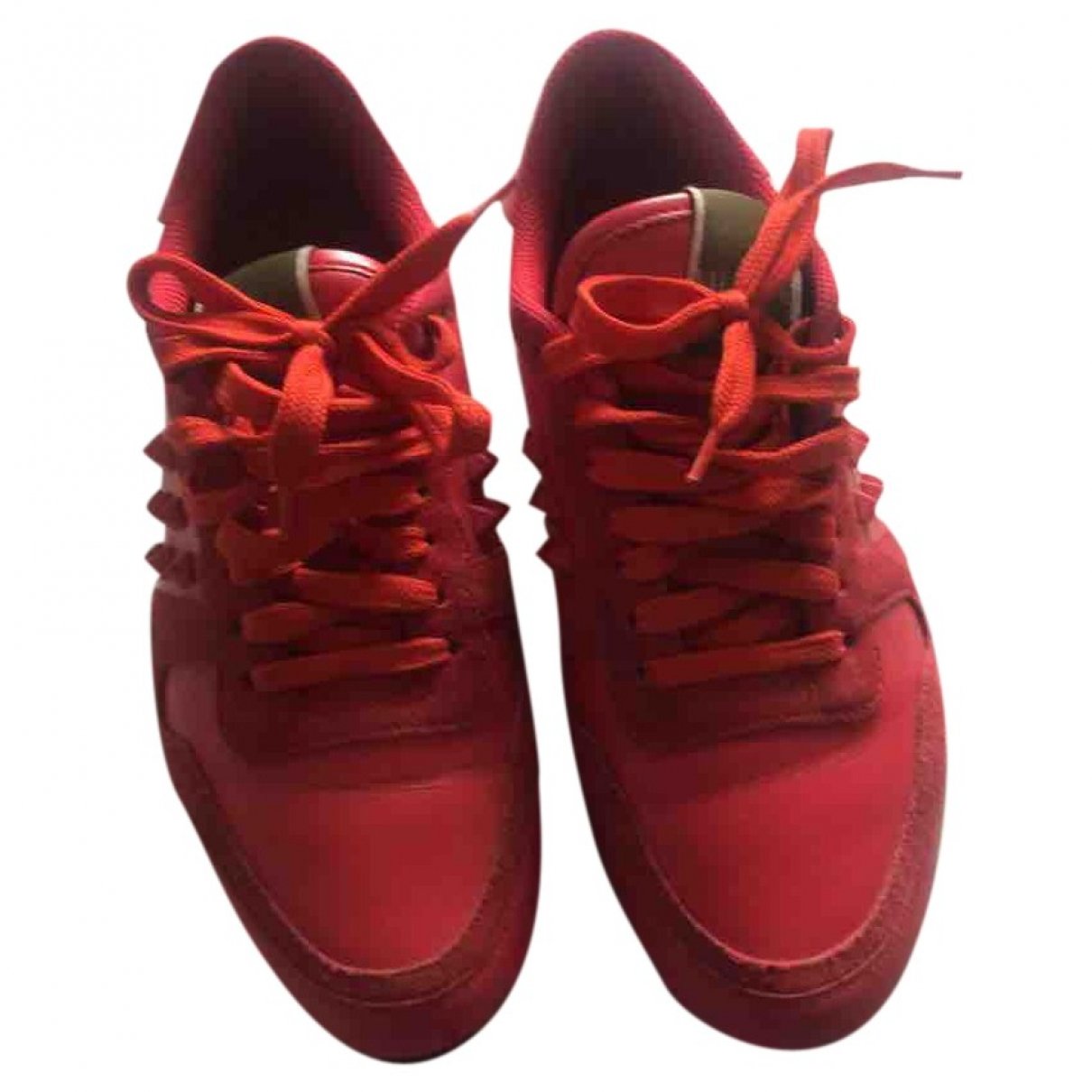 Valentino Garavani Rockrunner Red Leather Trainers for Women 37 IT