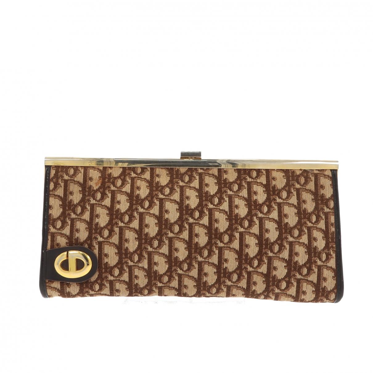 Christian Dior \N Beige Cloth Clutch bag for Women \N