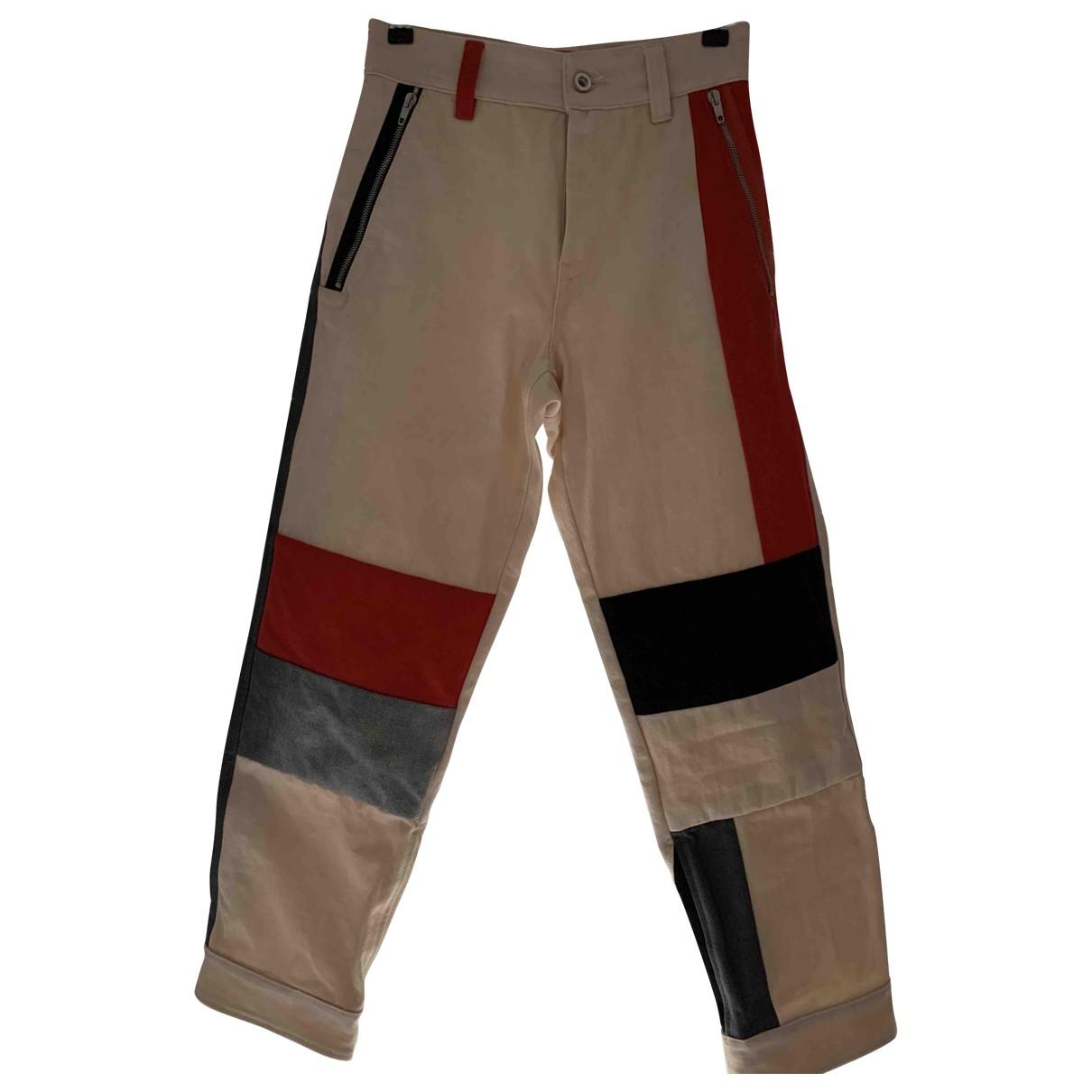 Pantalones en Algodon Beige Diesel