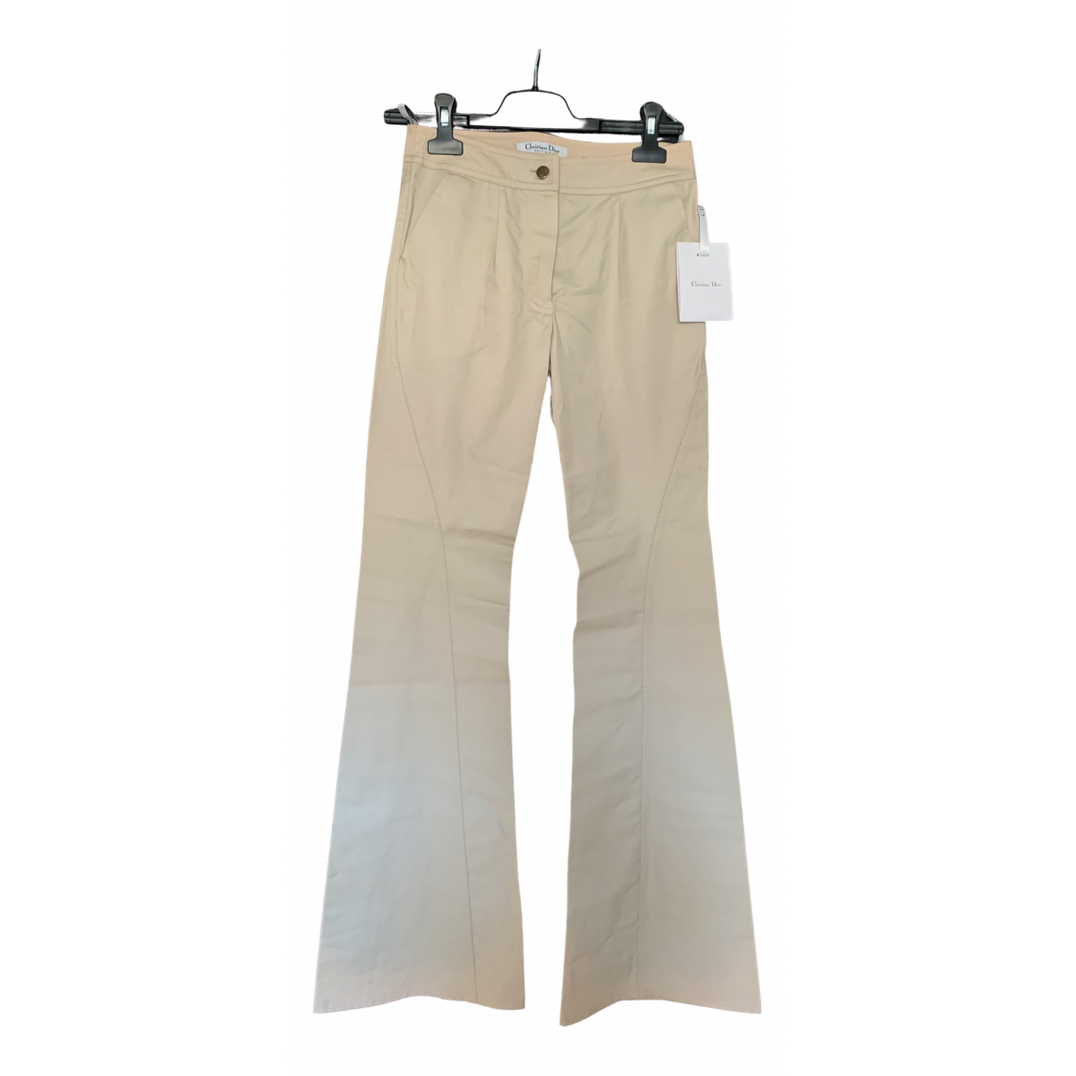 Dior N Beige Cotton Trousers for Women 34 FR