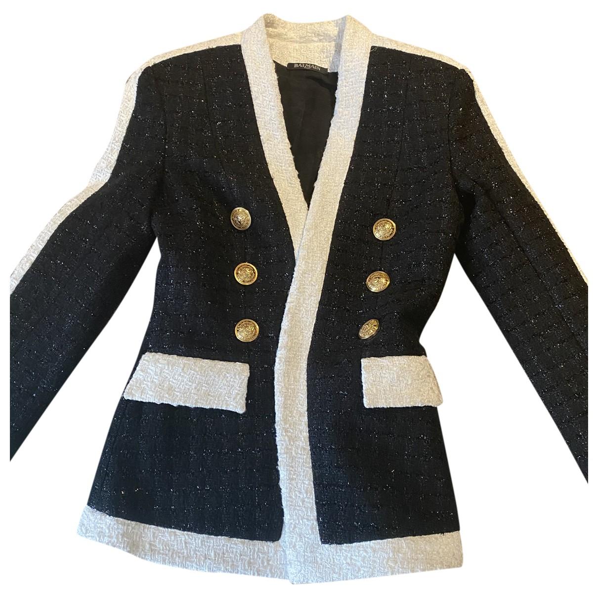 Balmain \N Shorts in  Marine Tweed