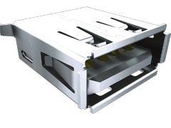 Samtec , USB-A USB Connector, Through Hole, Socket 2.0 A, Solder- Single Port (1000)