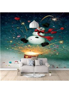 Mould-Proof Wall Mural Non-woven Fabrics 3D Christmas Home Decoration