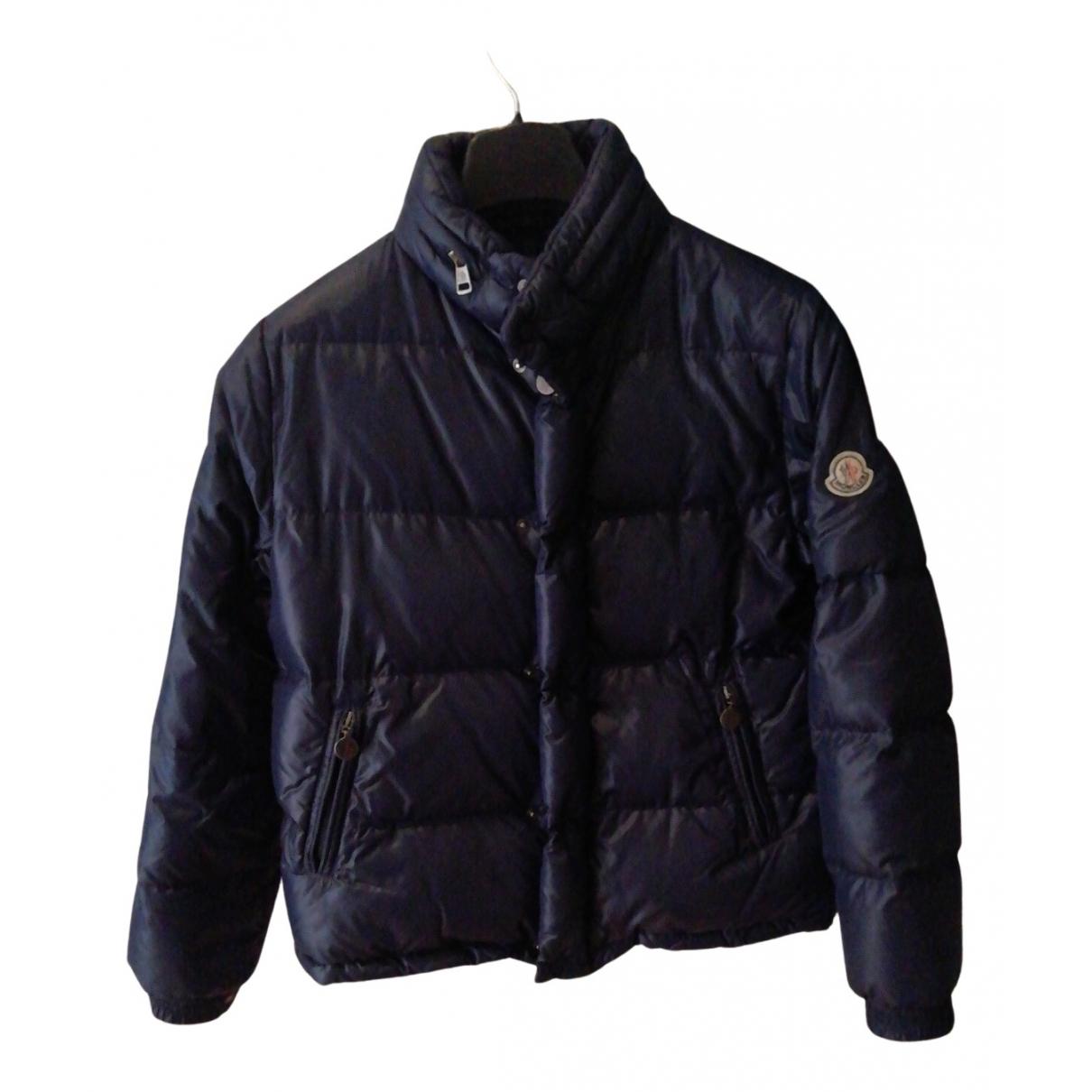 Moncler Classic Jacke, Maentel in  Blau Polyester