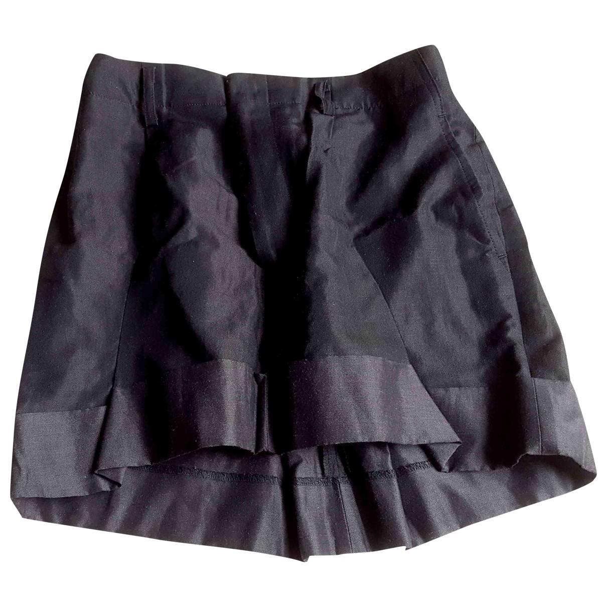 Junya Watanabe - Jupe   pour femme en lin - noir
