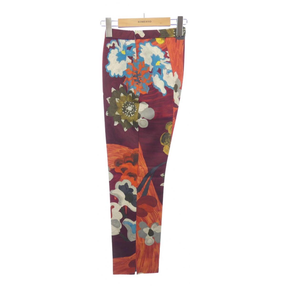 Prada \N Red Trousers for Women 40 IT