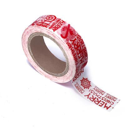 Washi Tape Merry Christmas Pattern, 15mmX10m 1Pc - LIVINGbasics™