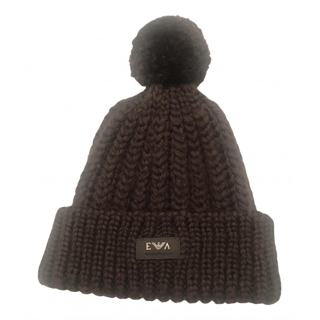 Emporio Armani - Chapeau   pour femme en laine - marron