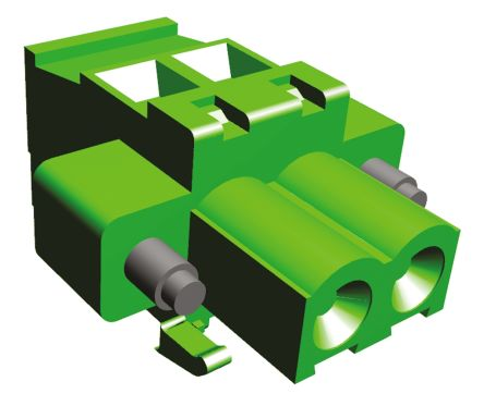 TE Connectivity , Buchanan 5.08mm Pitch, 2 Way Pluggable Terminal Block, Green