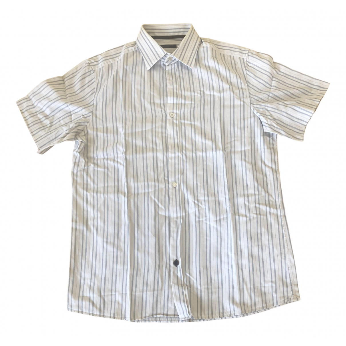 Louis Vuitton \N Beige Cotton Shirts for Men 40 EU (tour de cou / collar)