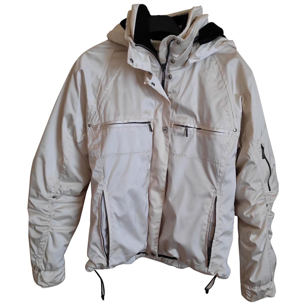 Non Signé / Unsigned \N Ecru coat for Women 40 FR