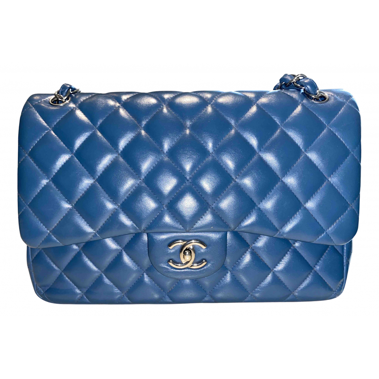 Chanel Timeless/Classique Green Patent leather handbag for Women \N