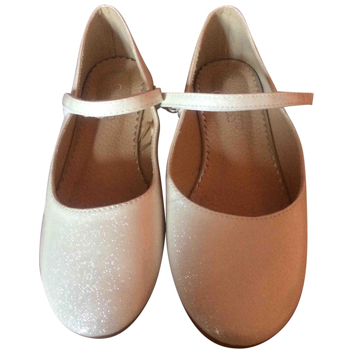 Non Signe / Unsigned \N Ballerinas in  Beige Polyester