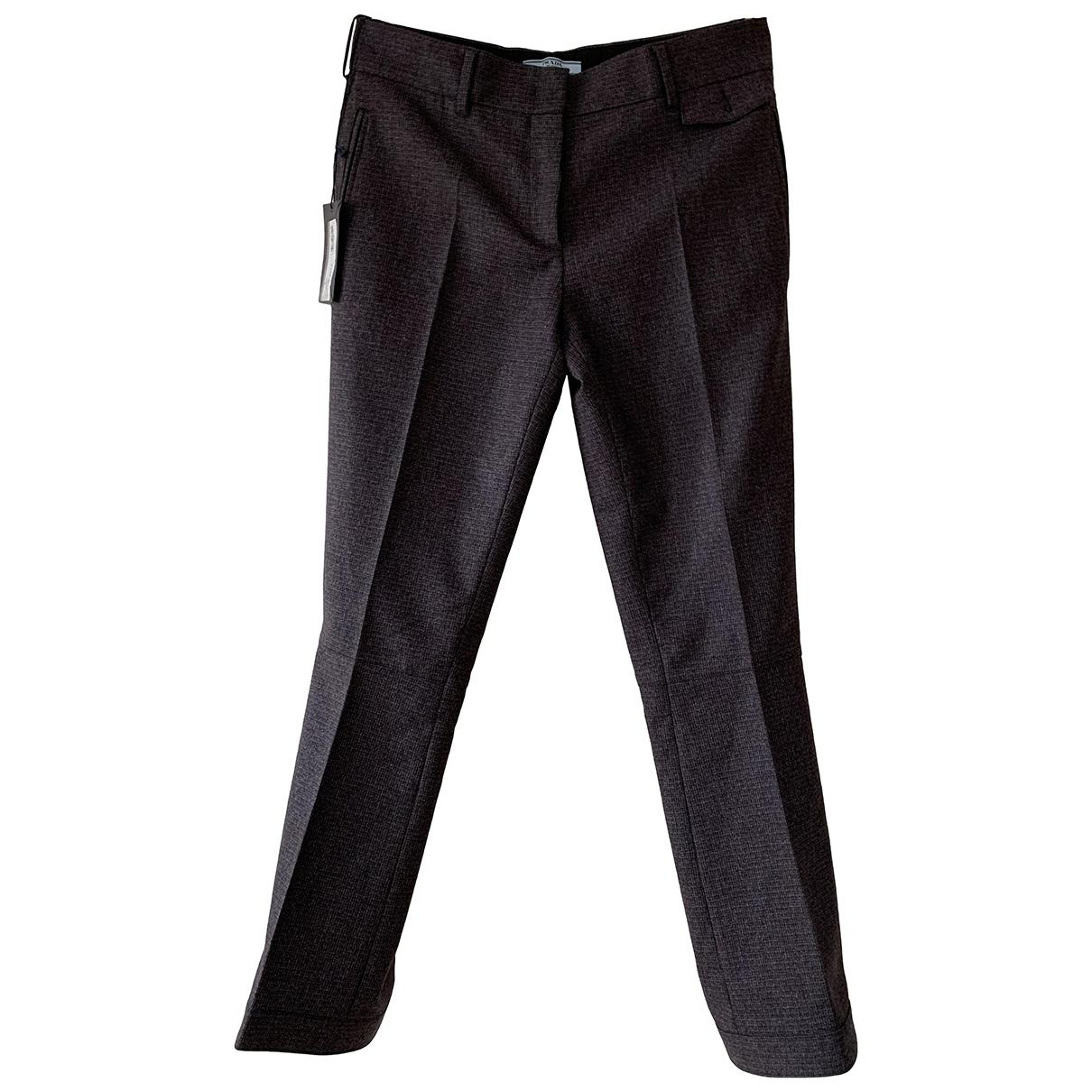 Prada \N Multicolour Wool Trousers for Women 40 IT