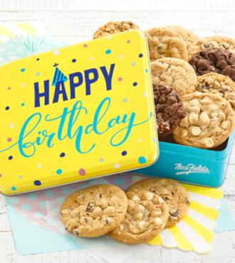 Happy Birthday Cookie Tin - FedEx
