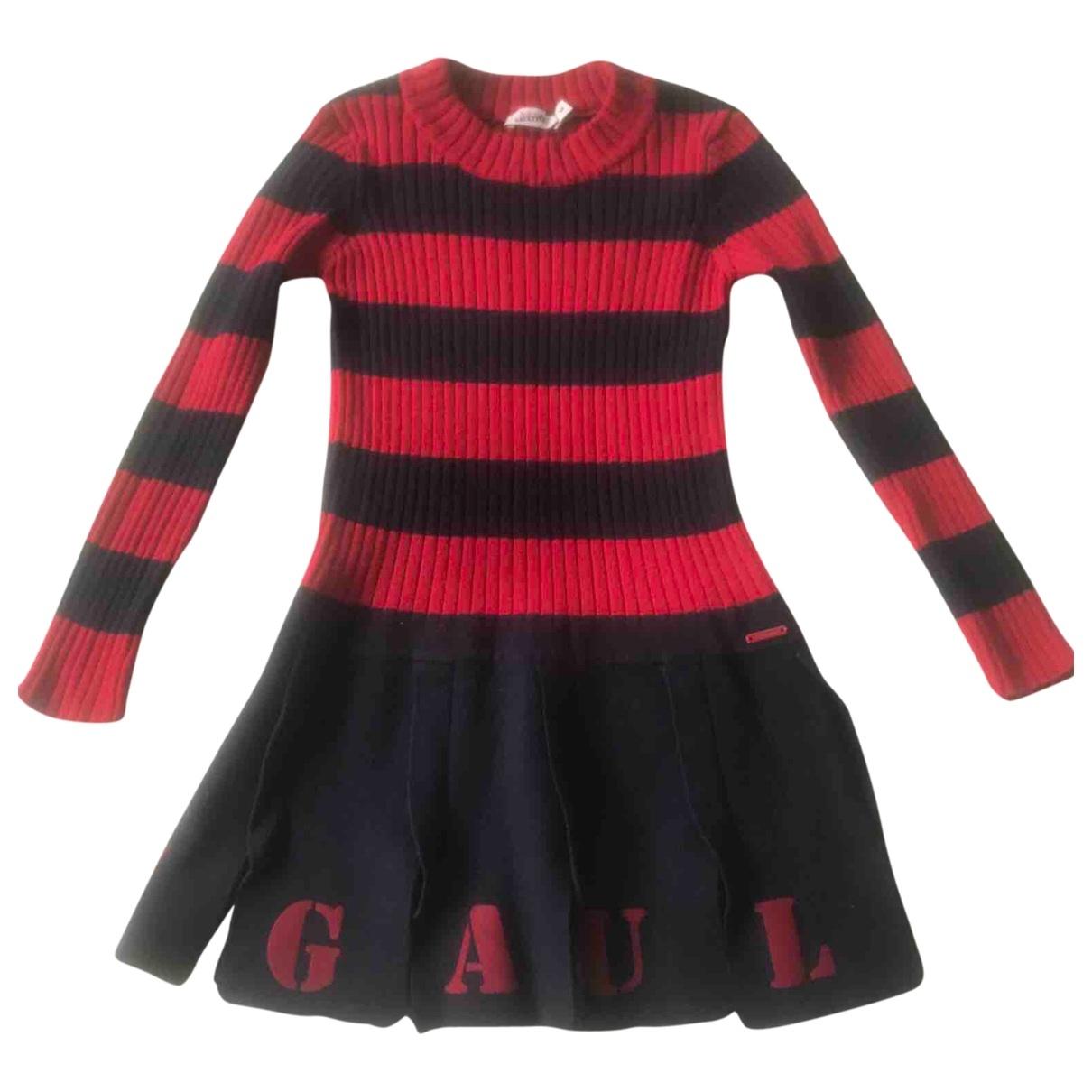 Gaultier Junior - Robe    pour enfant en coton - rouge