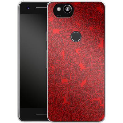 Google Pixel 2 Silikon Handyhuelle - Red Black von Mattartiste
