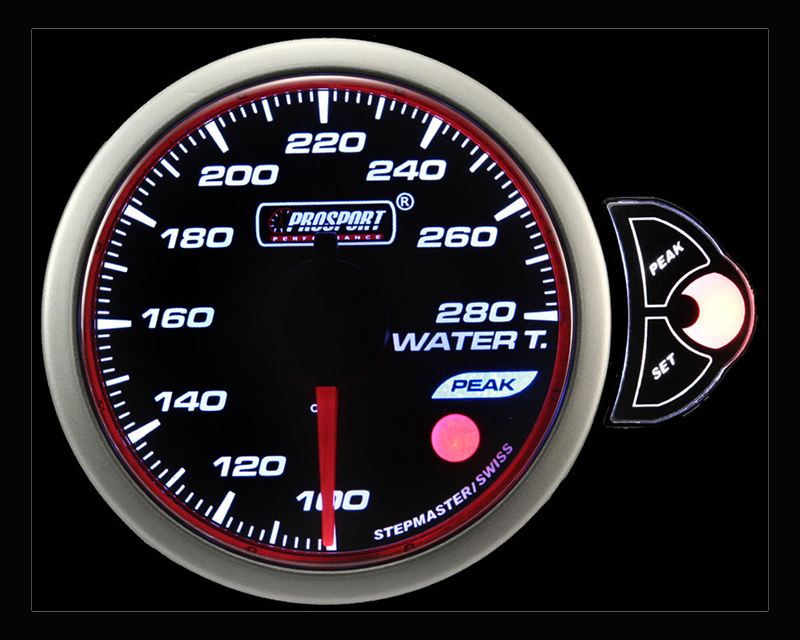 Prosport Performance Water Temp | Gauge Electric with Sender | Blue | White | Amber
