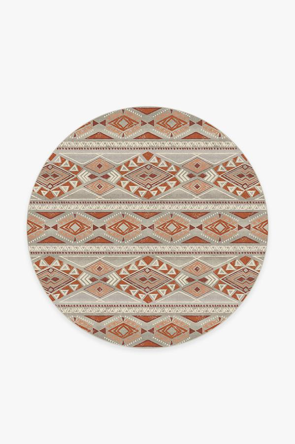 Washable Rug Cover | Suku Terracotta Rug | Stain-Resistant | Ruggable | 6' Round
