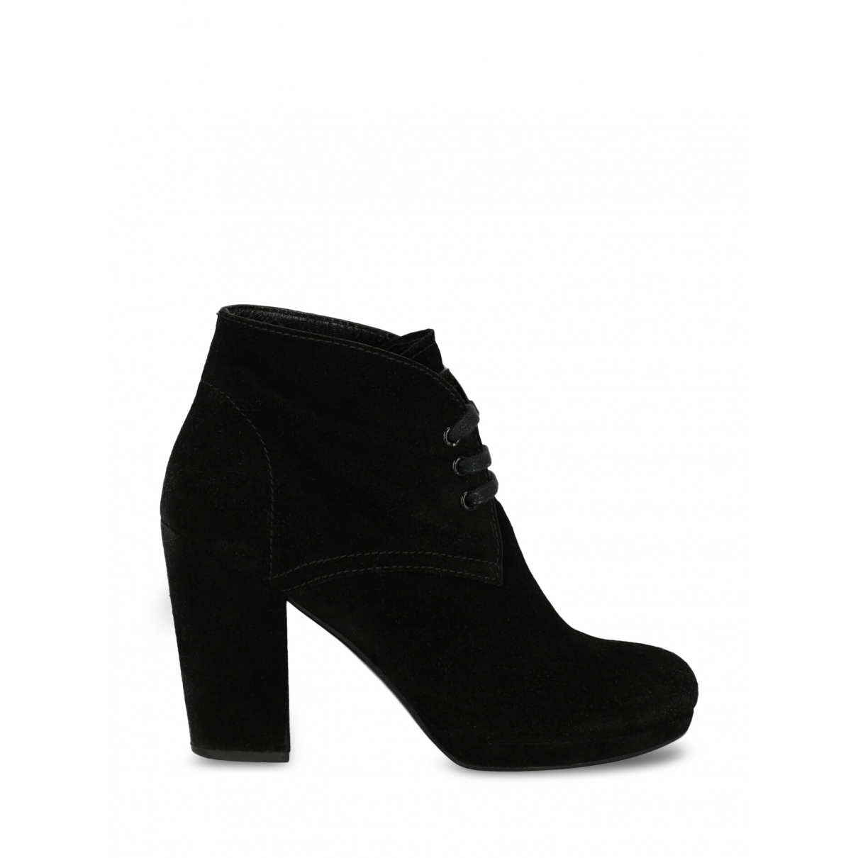 Prada \N Black Leather Ankle boots for Women 37 EU