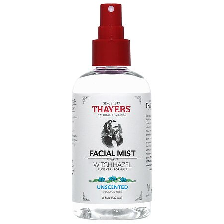 Thayers Alcohol-Free Unscented Witch Hazel Facial Mist Toner Unscented, Unscented - 8.0 oz