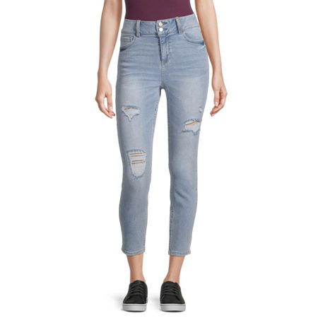 Vanilla Star - Juniors Womens High Rise Skinny Fit Jean, 0 , Blue