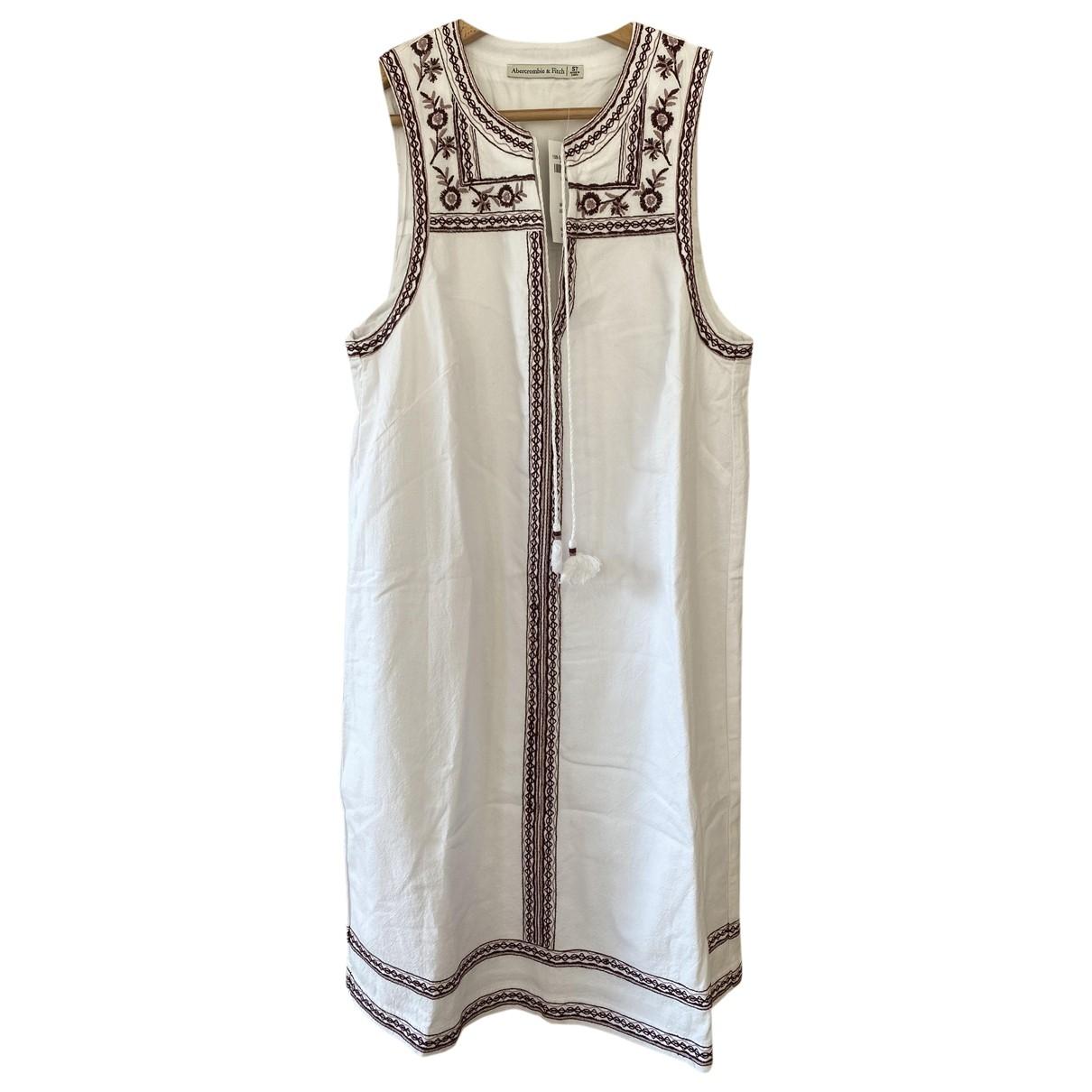Abercrombie & Fitch - Robe   pour femme en coton - blanc