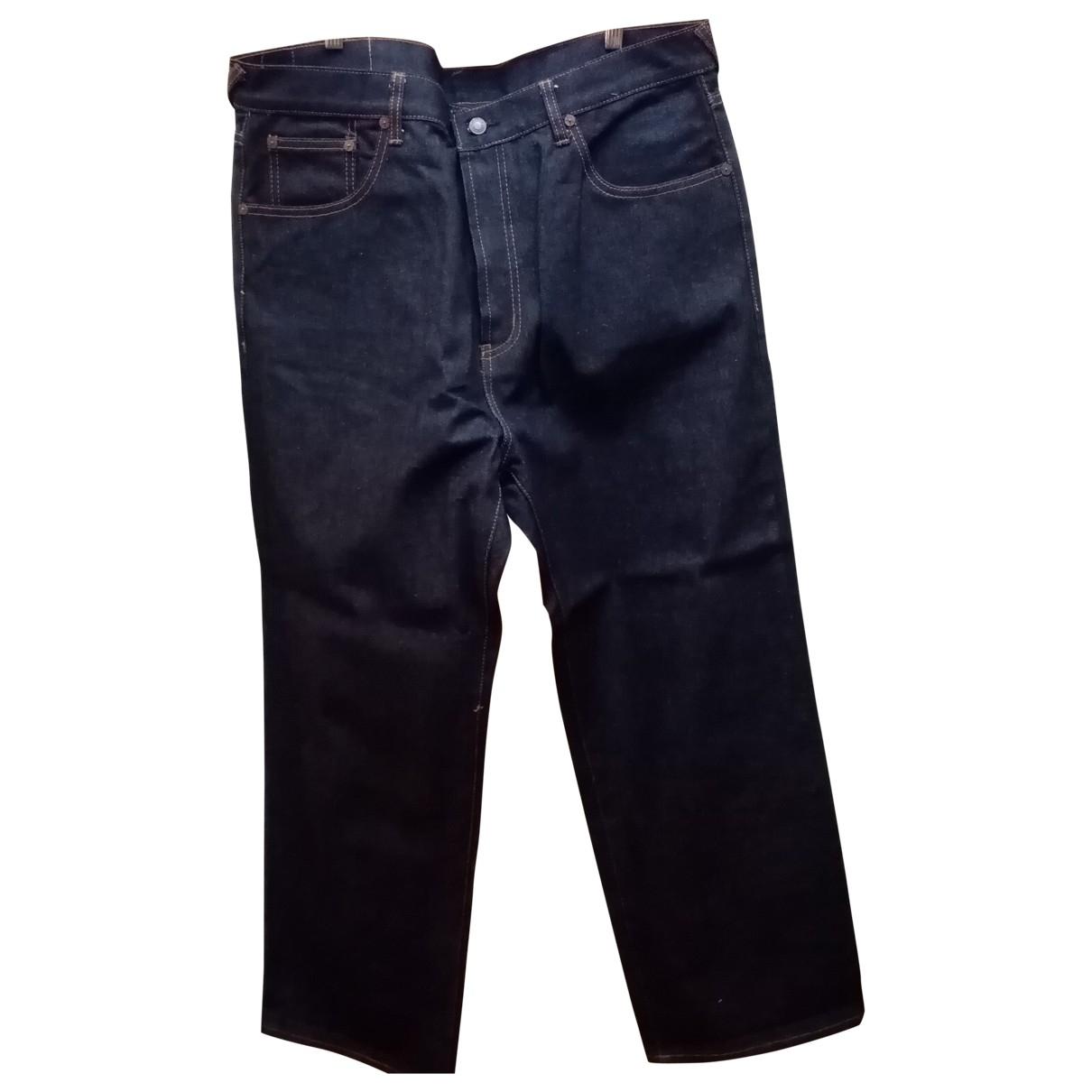 Evisu \N Navy Cotton Jeans for Men 36 US