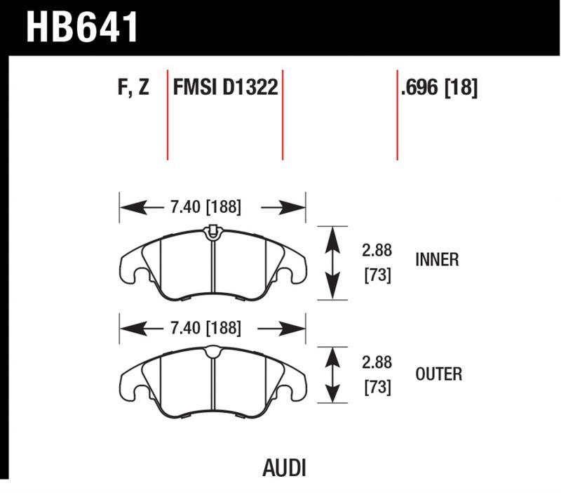 Hawk Performance HB641B.696 Disc Brake Pad Audi Front