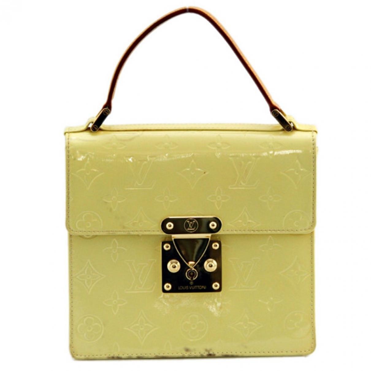 Louis Vuitton Spring street Yellow Leather handbag for Women \N