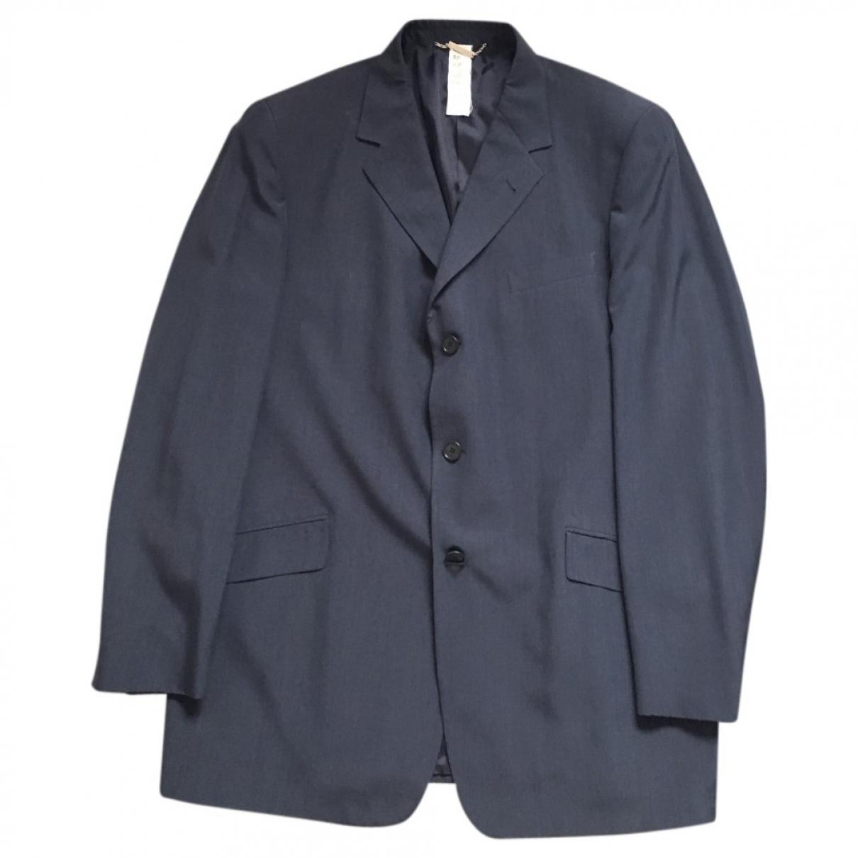 Versace \N Blue Wool Suits for Men 56 IT
