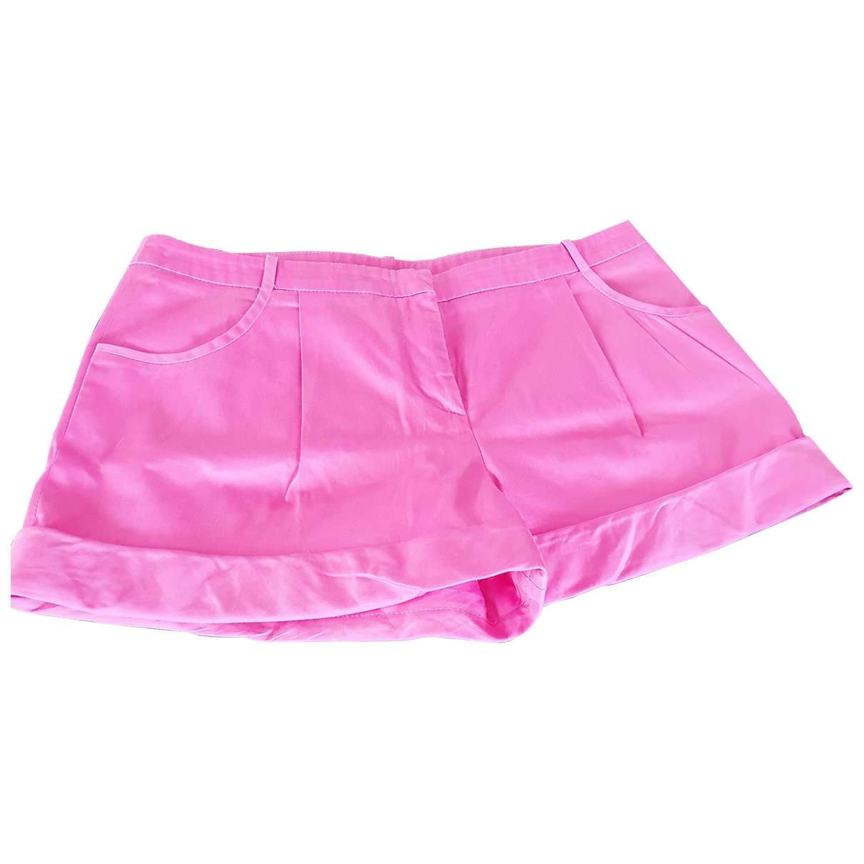 Emilio Pucci \N Pink Cotton Shorts for Women 38 FR