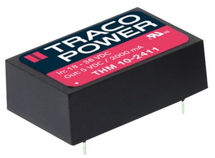 TRACOPOWER THM 10 10W Isolated DC-DC Converter PCB Mount, Voltage in 4.5 → 9 V dc, Voltage out ±12V dc Medical