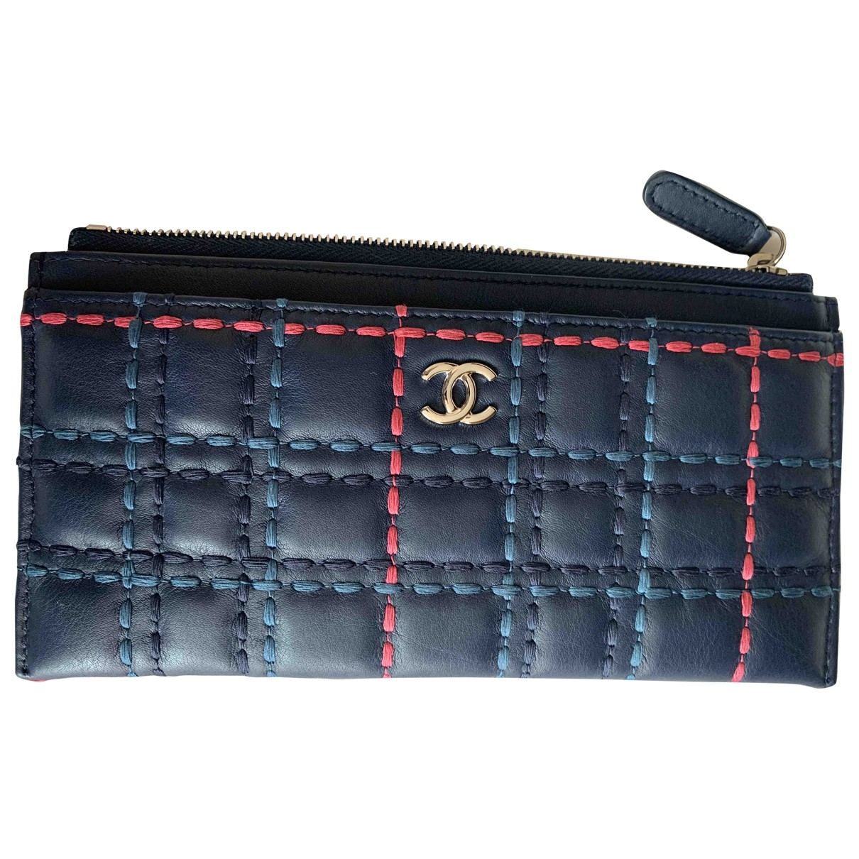 Chanel \N Navy Leather Purses, wallet & cases for Women \N
