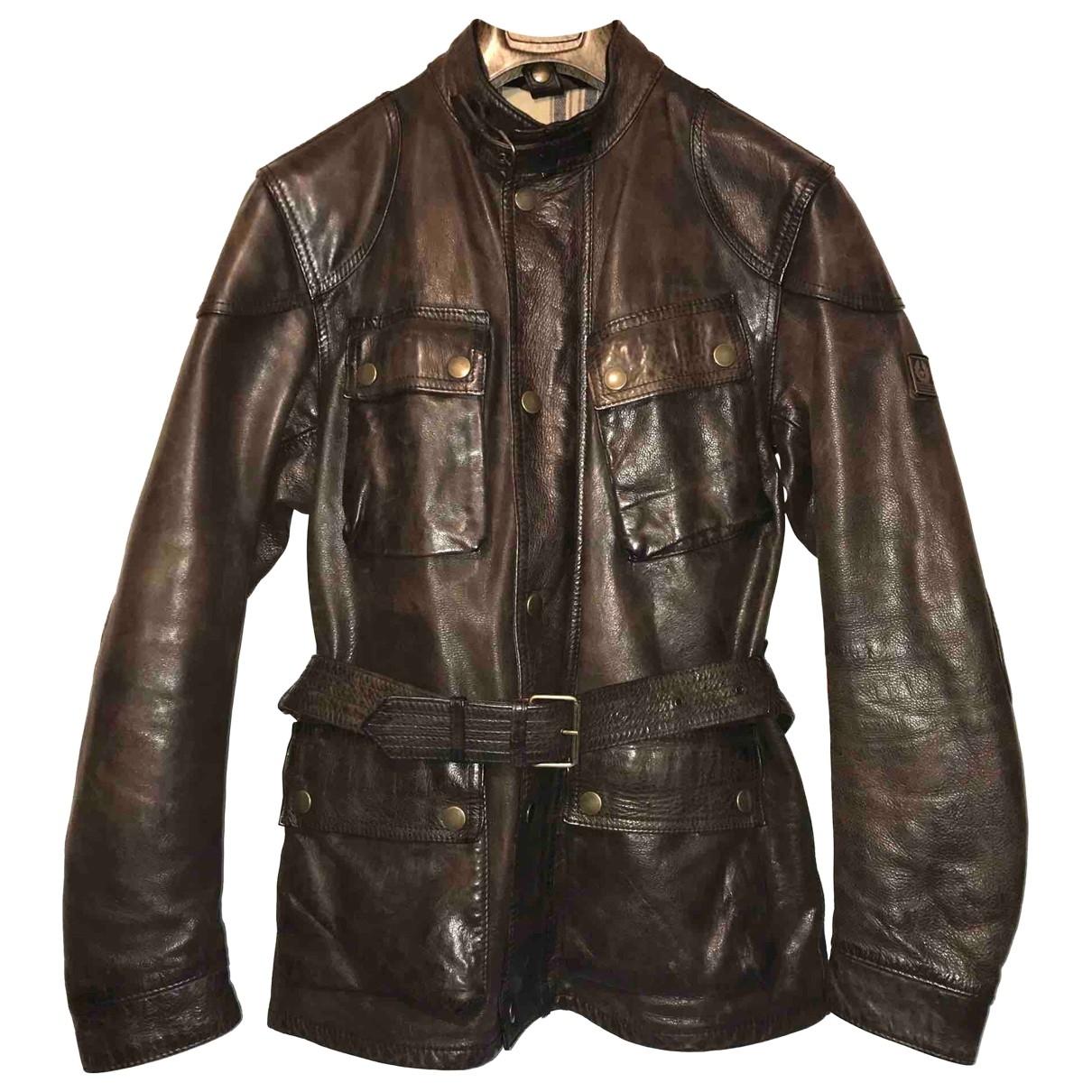Belstaff \N Brown Leather jacket  for Men 38 UK - US