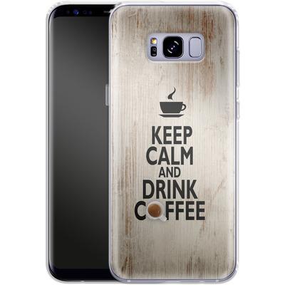 Samsung Galaxy S8 Plus Silikon Handyhuelle - Drink Coffee von caseable Designs