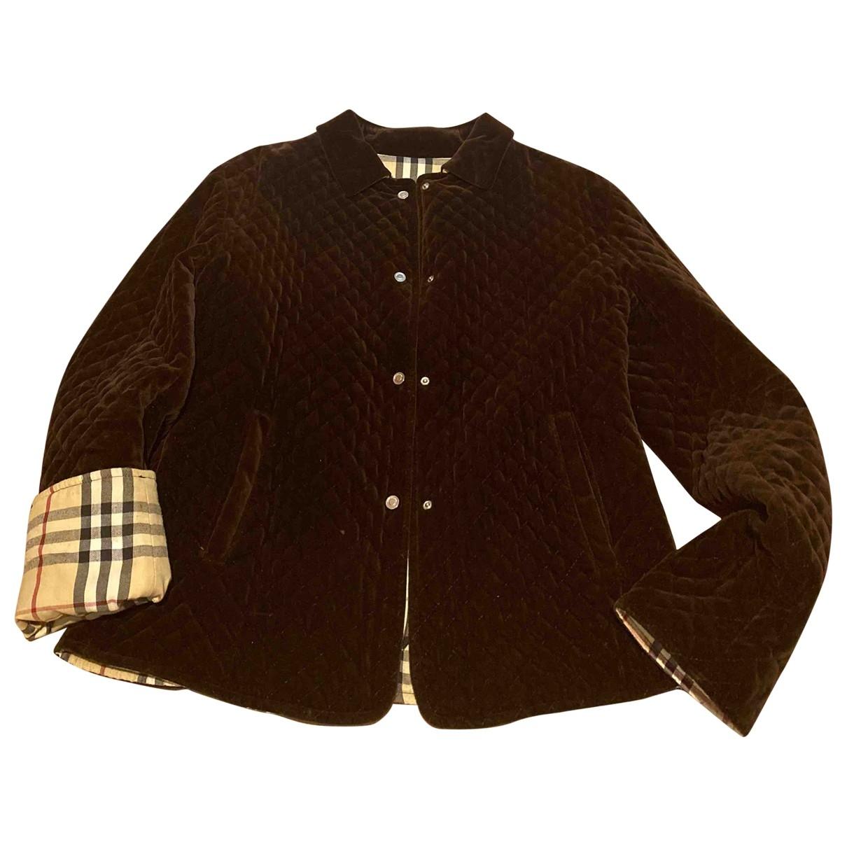 Burberry \N Brown Velvet jacket for Women 42 IT