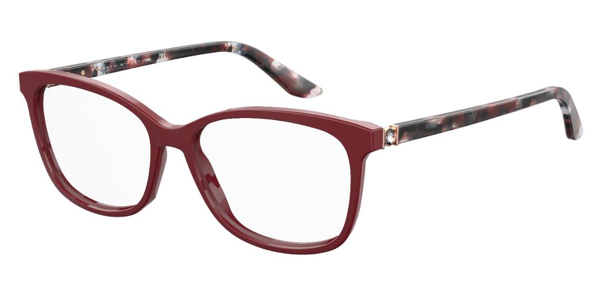 Seventh Street 7A548 WHS Men's Glasses Burgundy Size 53 - Free Lenses - HSA/FSA Insurance - Blue Light Block Available