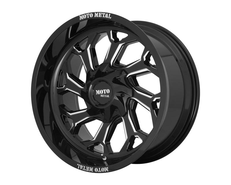 Moto Metal MO99922267344N MO999 Wheel 22x12 6X135/5.5 -44mm Gloss Black Milled
