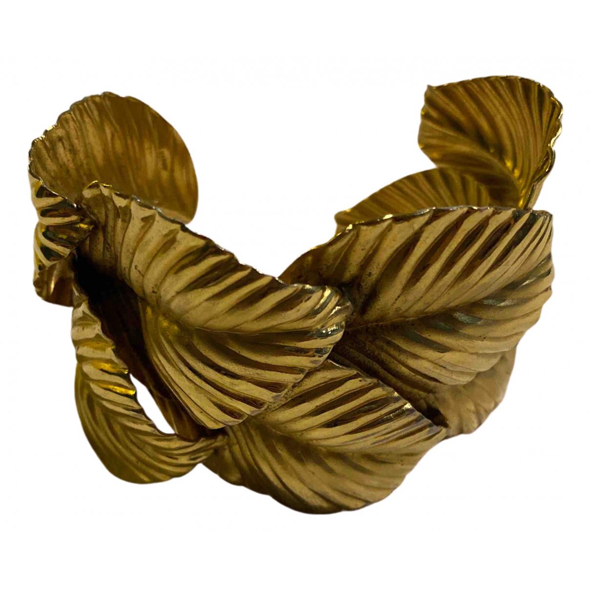 - Bracelet Motifs Floraux pour femme en metal - dore