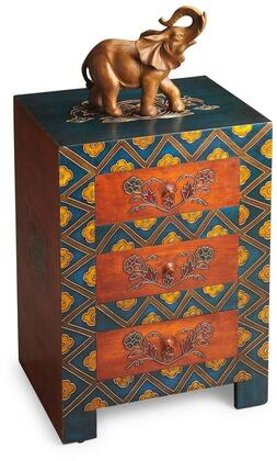 Dharma Collection 1173290 Accent Chest with Traditional Style  Rectangular Shape and Fossil Stone Veneer in Artifacts