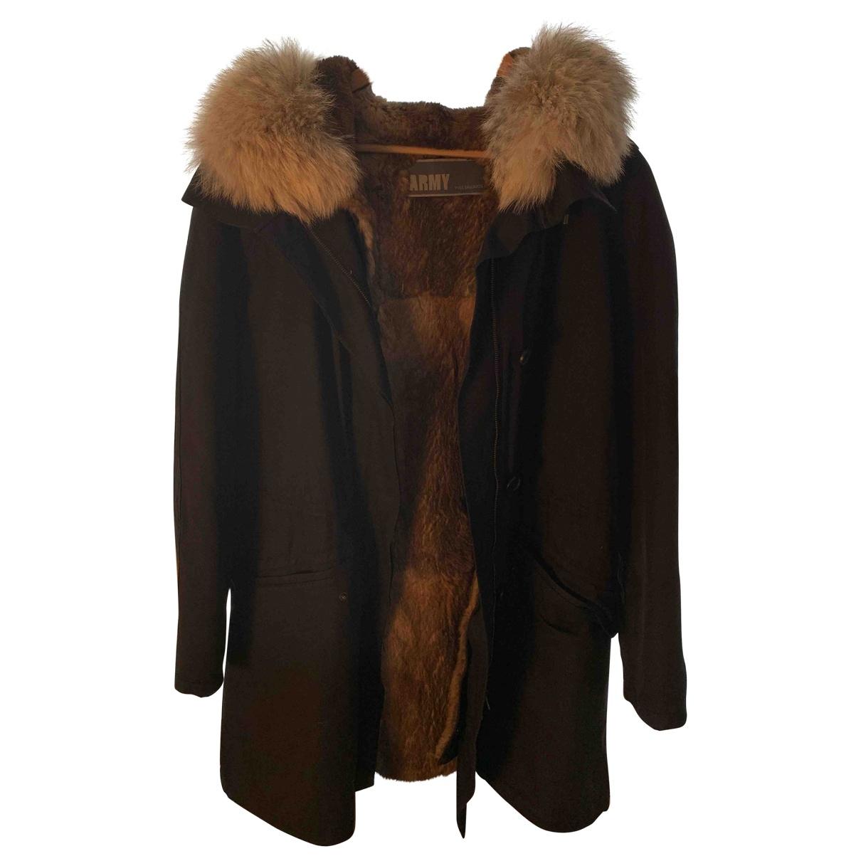 Army - Manteau   pour femme en lapin - marine