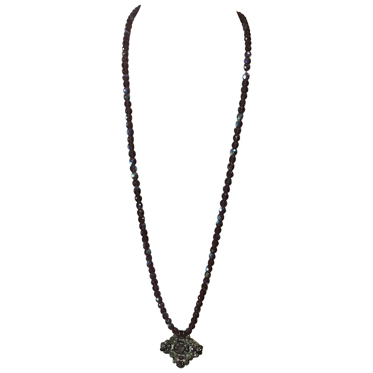 Non Signé / Unsigned \N Purple Glass Long necklace for Women \N