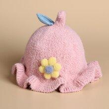 Baby Hut mit Blumen Dekor