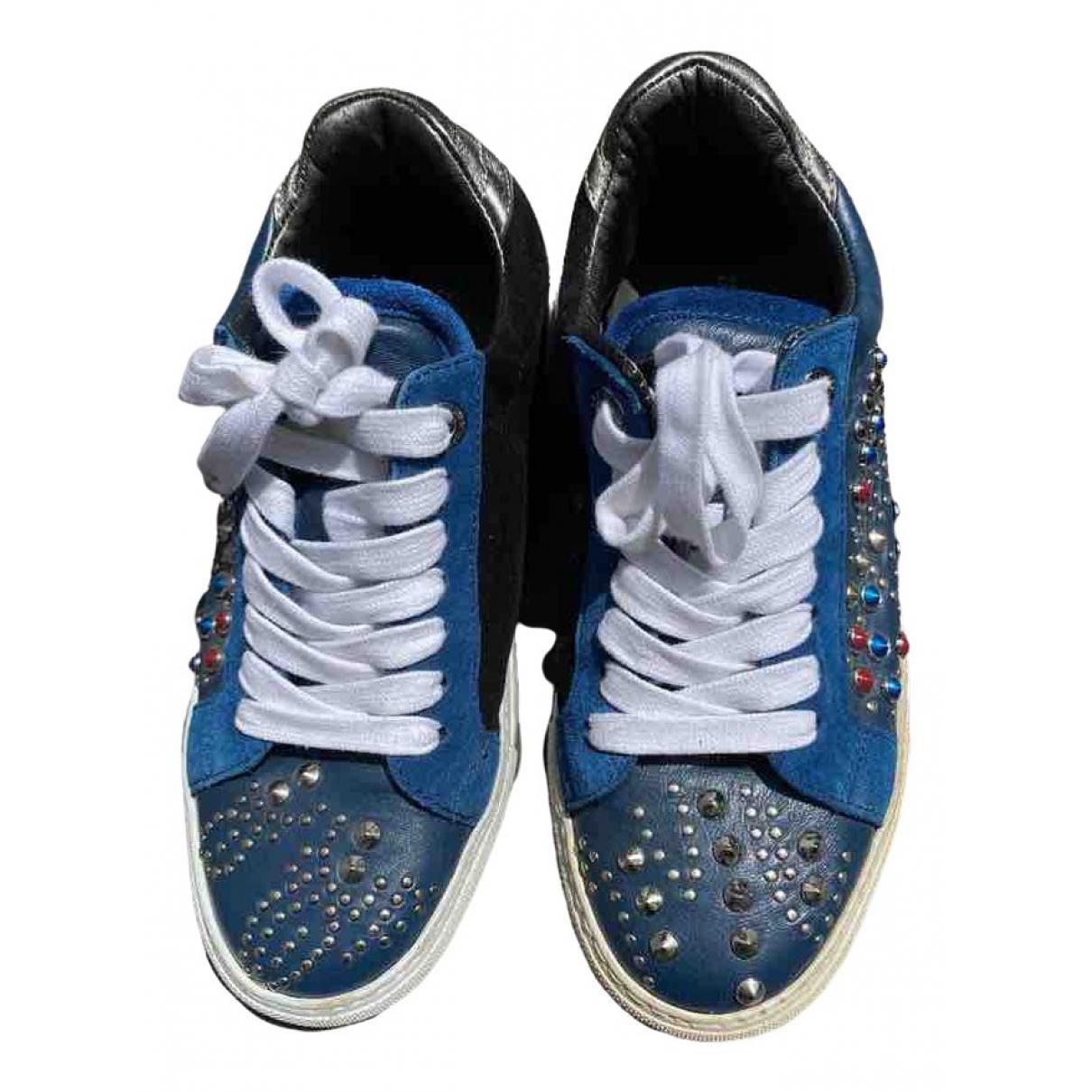 Zadig & Voltaire Rose Sneakers in  Marine Leder