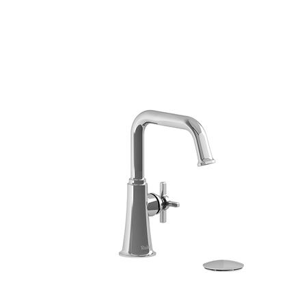 Momenti MMSQS01+PNBK-05 Single Hole Lavatory Faucet with + Cross Handle 0.5 GPM  in Polished