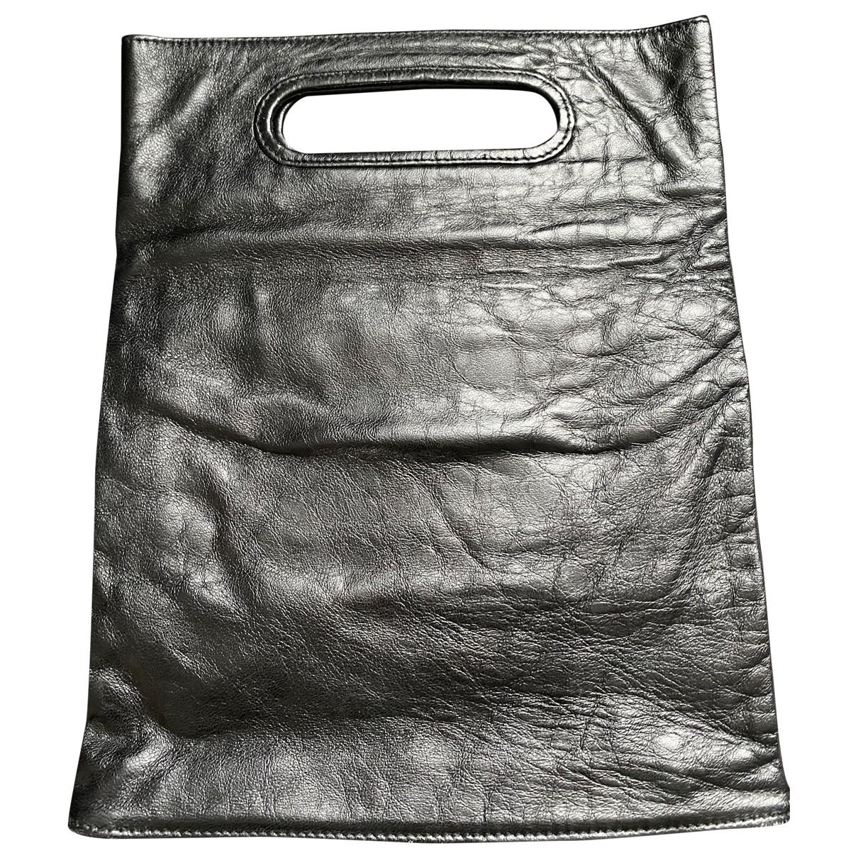 Helmut Lang \N Handtasche in  Schwarz Leder