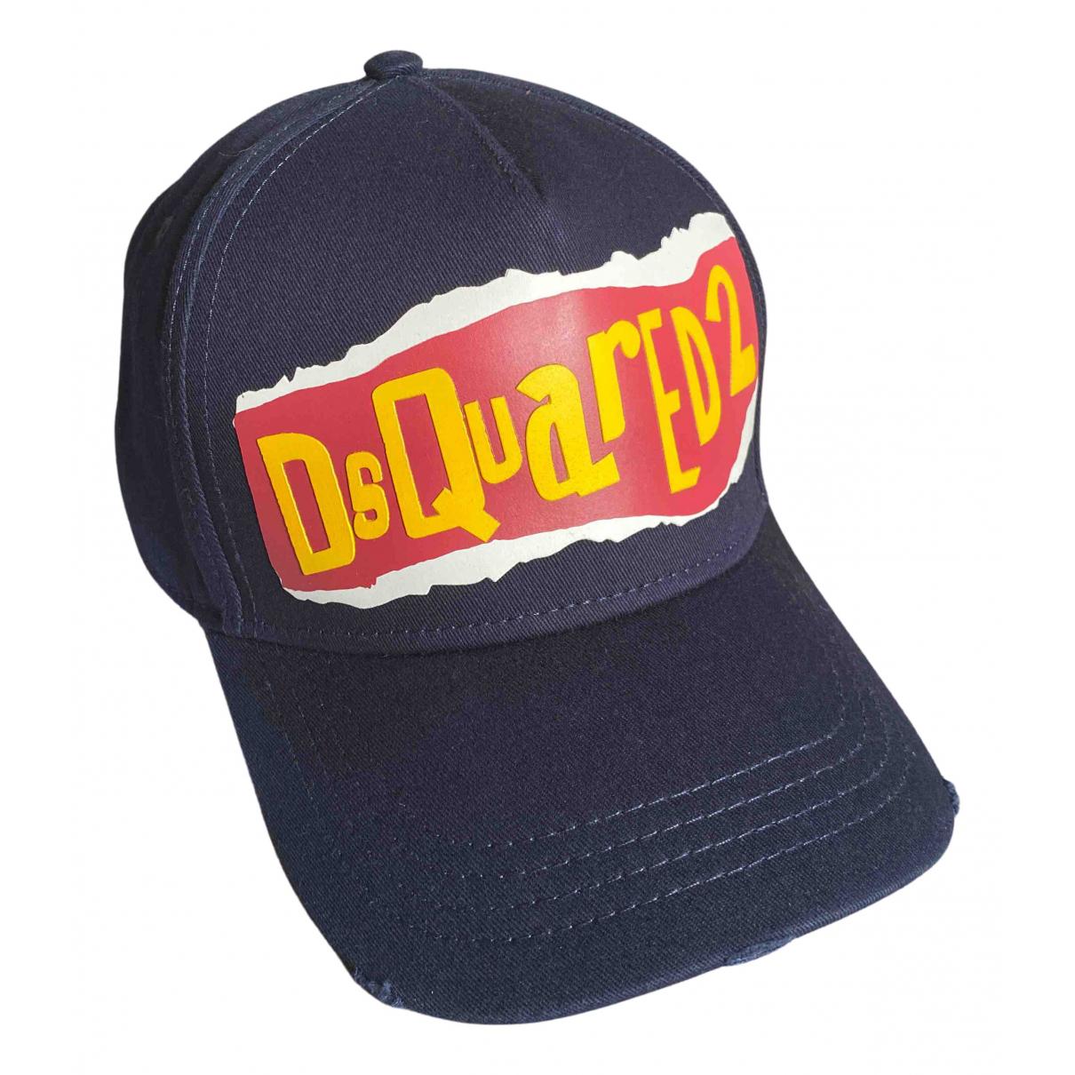 Dsquared2 - Chapeau & Bonnets   pour homme en coton - marine